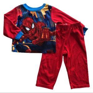 ⭐️ Boys Size 3T Fleece Spiderman Pajamas